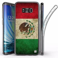 For Samsung Galaxy S8 Plus,Tri Max Transparent Full Body Case Cover MEXICO FLAG