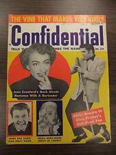 Confidential Magazine January 1957 Elvis Presley Autographs Boobs Picasso Opium