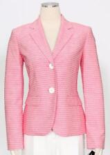 1178-2 Le Suit Womens Strawberry Pink & White Two Piece Pants Suit 8 $200