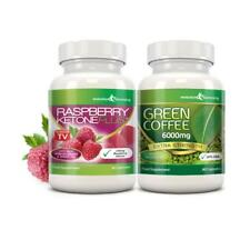 Raspberry Ketone Plus & Green Coffee Fat Burner Combo 1 Month Evolution Slimming