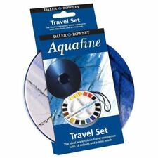 Daler Rowney Watercolour Aquafine Travel Tin - Set 18 Half Pan Round