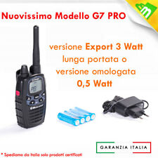 MIDLAND WALKIE TALKIE RADIO G7 PRO BIBANDA PMR446/LPD NERA + CARICATORE + STYLO