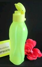 New TUPPERWARE Small Eco Water Bottle 16 oz. Neon Yellow BPA Free FREE US SHIP