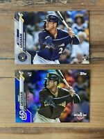 TRENT GRISHAM RC 2020 Topps Series 1 + BLUE FOIL Opening Day LOT Brewers #9 #190
