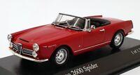 Minichamps 1/43 Scale 400 120632 - 1964 Alfa Romeo 2600 Spider - Red