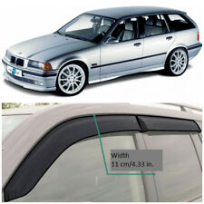 Wide Window Visors Side Guard Vent Deflectors For BMW 3 Touring (E36) 1995-1999