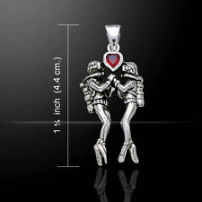 Dive Love .925 Sterling Silver Pendant by Peter Stone