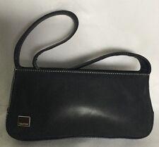 OROTON Padded Black Leather Shoulder Bag / Handbag