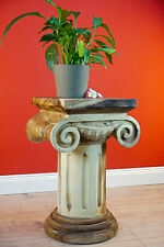 Flower Stand Wood Table Solid Wood Columns Podium Side Table Suar