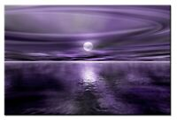 Opus Purple 60x40cm Large wall art canvas print artwork home living room kit