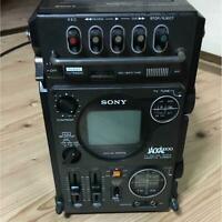 SONY VINTAGE ELECTRONIC PORTABLE CASSETTE RADIO TV RARE COLLECTIBLE DECK JAPAN