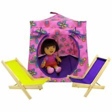 Pink, butterfly print Toy Play Pop Up Doll Tent, 2 Sleeping Bags, handmade