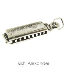 925 Sterling Silver Harmonica Charm Made in USA