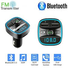 Wireless In-Car Bluetooth FM Radio Transmitter MP3 Adapter Car QC 2 USB Charger