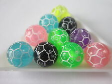 25 Transparent  World Cup Football Acrylic Beads 12 mm findings jewellery making