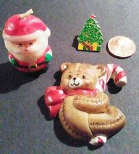 Tiny Christmas Items, Mini Candle, Lapel Pin, Magnet - FREE US SHIPPING!!!