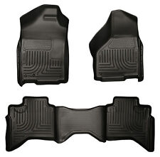 02-09 Dodge Ram 1500/2500/3500 Quad Cab Black Husky WeatherBeater Floor Mat Set