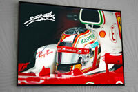 CHARLES LECLERC FERRARI F1 2019 A3 Framed Canvas Signed