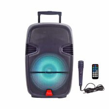 Ridgeway QS-3715BR 15 inch Portable Bluetooth Speaker Rechargeable Bass Lights