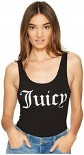 Juicy Couture 169321 Womens Juicy Graphic Scoop Neck Bodysuit Black Size Medium