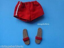 Vintage Barbie Ken Doll  #750 Swimsuit Red Shorts & Cork Sandals 1961 Japan