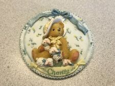 "Cherished Teddies Charity ""Girls With Bonnets Plaque"" 104140 - 1994"