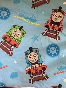 Thomas and Friends Sheet Flat Twin Fabric Cutter Quilting Percy Henry Many Train
