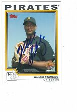 2004 Topps Wardell Starling Pittsburgh Pirates Authentic Autograph COA
