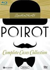Agatha Christie's Poirot Complete Cases Collection Blu ray Region A Sealed Box