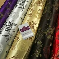 """Chinese Shanghai Floral blossom Silky Satin Brocade dress fabric 45"""" wide M798"""