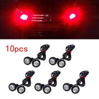 10X Motor Car Eagle Eye Light DRL 9W LED Red 18MM Bolt On Screw Backup Light Fog
