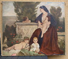 Gemälde Öl Bild Leinwand alt Reproduktion Vintage Kunst Maler nach Feuerbach