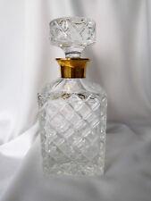 Karaffe, Whisky Karaffe, Kristall, Sterling Silber vergoldet