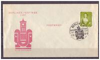 DDR, Festbrief MiNr. 587 SSt - Berlin - Berliner Festtage 02.10.1957