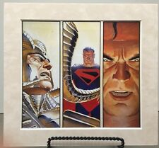 SUPERMAN By ALEX ROSS Pro Suede Matted Print Kingdom Come DC Comics