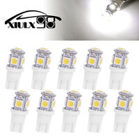 10X White T10 5SMD 5050 LED Interior Dome Map License Light  Bulbs W5W 192 168