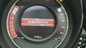 2019 FIAT 500 Abarth 595 TFT LCD SPEEDOMETER INSTRUMENT CLUSTER CLOCKS
