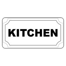 Kitchen Black Retro Vintage Style Metal Sign - 8 In X 12 In With Holes
