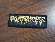 AGATHOCLES,SEW ON YELLOW EMBROIDERED PATCH