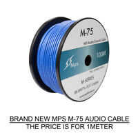 1meter AUDIO CABLE MPS M-75 High Purity 99.9997% OCC Coaxial Wire CD AMP RCA DIY