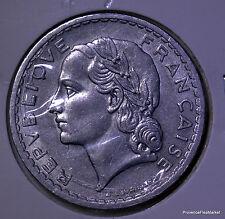 Grande piece FRANCE RF 5 francs 1947 Lavrillier alu ac08