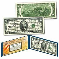 ALL 45 U.S. PRESIDENT SIGNATURES Genuine Legal Tender $2 U.S. Bill with Display