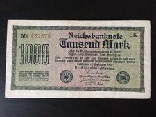 Reichsbanknote - 1922 - 1000 Mark - Ro75 /I