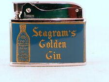 Seagram's Golden Gin blue enamel advertising lighter from the 50's/60's - NOS