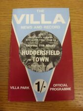 11/01/1969 Aston Villa V Huddersfield Town [incluye Liga de fútbol revisar]. B