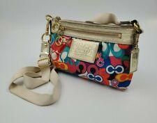 COACH Poppy C Graffiti Demi Signature Daisy Multi Color Tote Bag Crossbody Bag