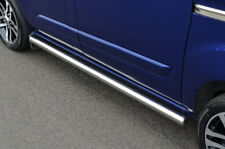 Chrome Side Step tubes Barres Ensemble S. acier Pour S'adapter SWB Ford Transit Custom (2012+)