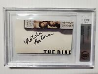 NATALIE PORTMAN SIGNED AUTOGRAPHED CUT STAR WARS ENCAPSULATED BECKETT BAS