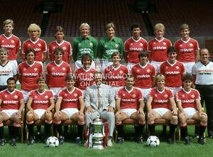 1983 FA CUP TEAM SQUAD PHOTO CHOOSE PRINT SIZE MANCHESTER UNITED MAN UTD 2