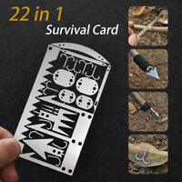 Camping Survival MultiTool Card Wilderness Survival Gear Kit For Fishing Hunting